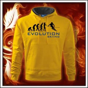 Evolution Skiing - žltá pánska mikina