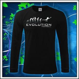 Evolution Football - čierne DR pánske reflexná potlač