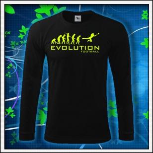 Evolution Football - čierne DR pánske so žltou neónovou potlačou