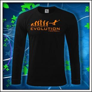 Evolution Football - čierne DR pánske s oranžovou neónovou potlačou