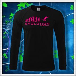 Evolution Football - čierne DR pánske s ružovou neónovou potlačou