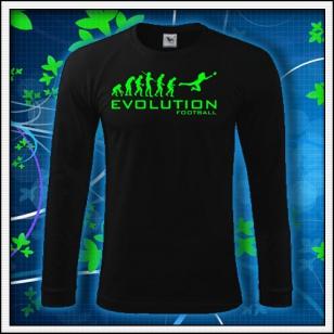 Evolution Football - čierne DR pánske so zelenou neónovou potlačou