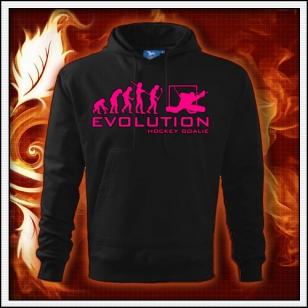 Evolution Hockey Goalie - čierna mikina s ružovou neónovou potlačou