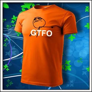 Meme GTFO - oranžové