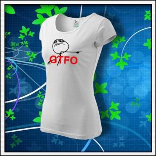 Meme GTFO - dámske biele