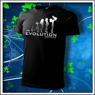 Evolution Mother - unisex tričko reflexná potlač