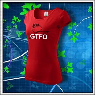 Meme GTFO - dámske červené