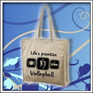 Life´s priorities - volleyball - taška