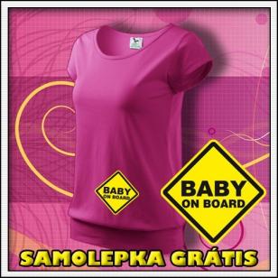 Baby on Board - purpurové + samolepka