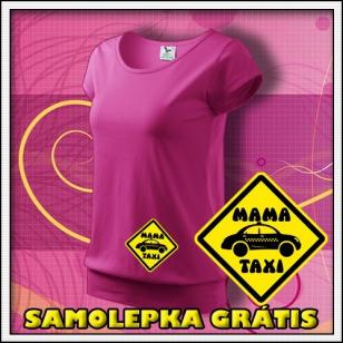 Mama Taxi - purpurové + SAMOLEPKA