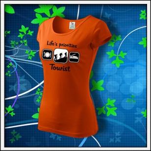 Life´s priorities - Tourist - dámske oranžové