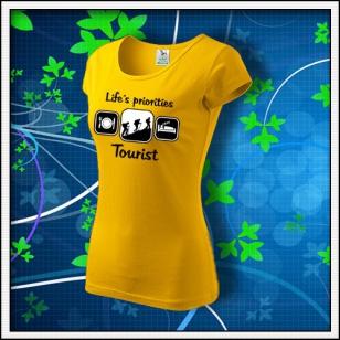 Life´s priorities - Tourist - dámske žlté