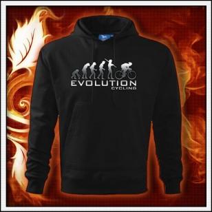 Evolution Cycling - čierna mikina reflexná potlač