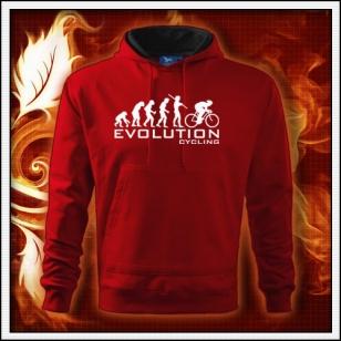 Evolution Cycling - červená mikina