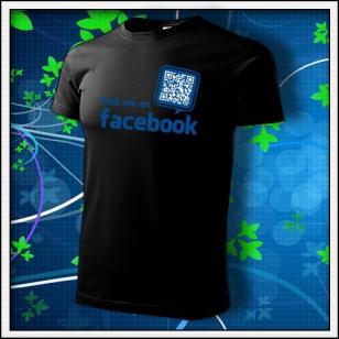 Nájdeš ma na Facebooku - čierne