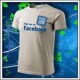 Nájdeš ma na Facebooku - ľadovosivé