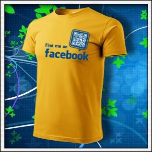 Nájdeš ma na Facebooku - žlté