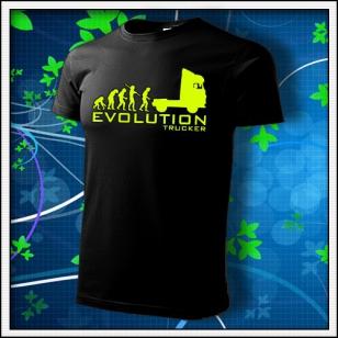 Evolution Trucker - unisex so žltou neónovou potlačou