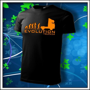 Evolution Trucker - unisex s oranžovou neónovou potlačou