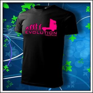 Evolution Trucker - unisex s ružovou neónovou potlačou