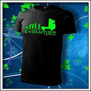 Evolution Trucker - unisex so zelenou neónovou potlačou