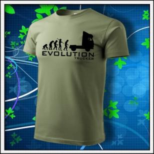 Evolution Trucker - khaki s čiernou potlačou
