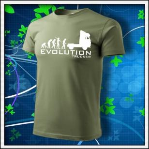 Evolution Trucker - khaki s bielou potlačou