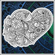 Kreatívny darček na valentína a omaľovánka srdce na tričku v jednom