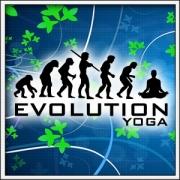 Vtipné tričká Evolution Yoga