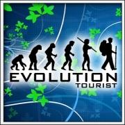 Vtipné tričká Evolution Tourist