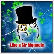 Tričko Meme Like a Sir Monocle