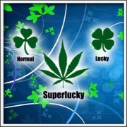 Vtipné tričko cannabis Normal Lucky Superlucky marihuana
