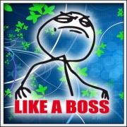 Tričko Meme Like a Boss
