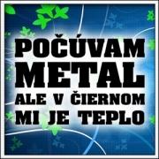 Tričko Počúvam metál SVK