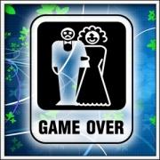 unisex a dámske tričko game over