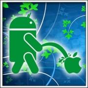 unisex a dámske tričko android vs. apple