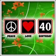 Tričko Peace, Love, Birthday