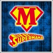 Darček pre mamu, tričko Supermama, vtipné darčeky na deň matiek