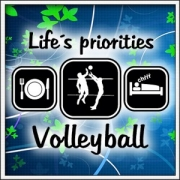 Tričko Life´s priorities - Volleyball