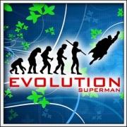 Vtipné tričko Evolution Superman
