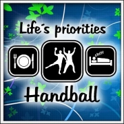 Tričko Life´s priorities - Handball