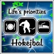 Tričko Life´s priorities - Hokejbal