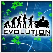 Vtipné tričká Evolution Motorbike