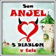 Vtipné detské tričko - Som anjel s diablom v tele