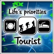 Tričko Life´s priorities - Tourist