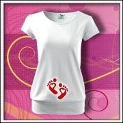 Tehotenské tričká s krátkym rukávom