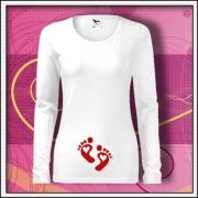 Tehotenské tričká s dlhým rukávom