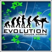 Tričko Evolution Chuck Norris