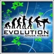 Vtipné tričká Evolution Chuck Norris