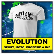 Originálne vtipné tričká s temátikou šport motorizmus a profesia.